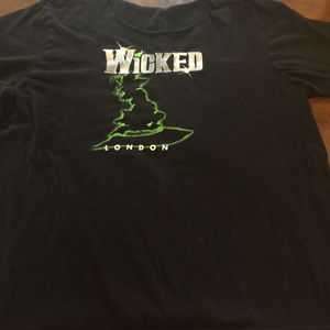 Tops - WICKED The Musical in London T-Shirt NO COLLAR
